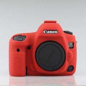 Image 4 - سيليكون درع حالة الجلد الجسم غطاء حامي مضاد للانزلاق الملمس تصميم لكانون EOS 5D مارك الرابع 4 5D4 DSLR كاميرا فقط