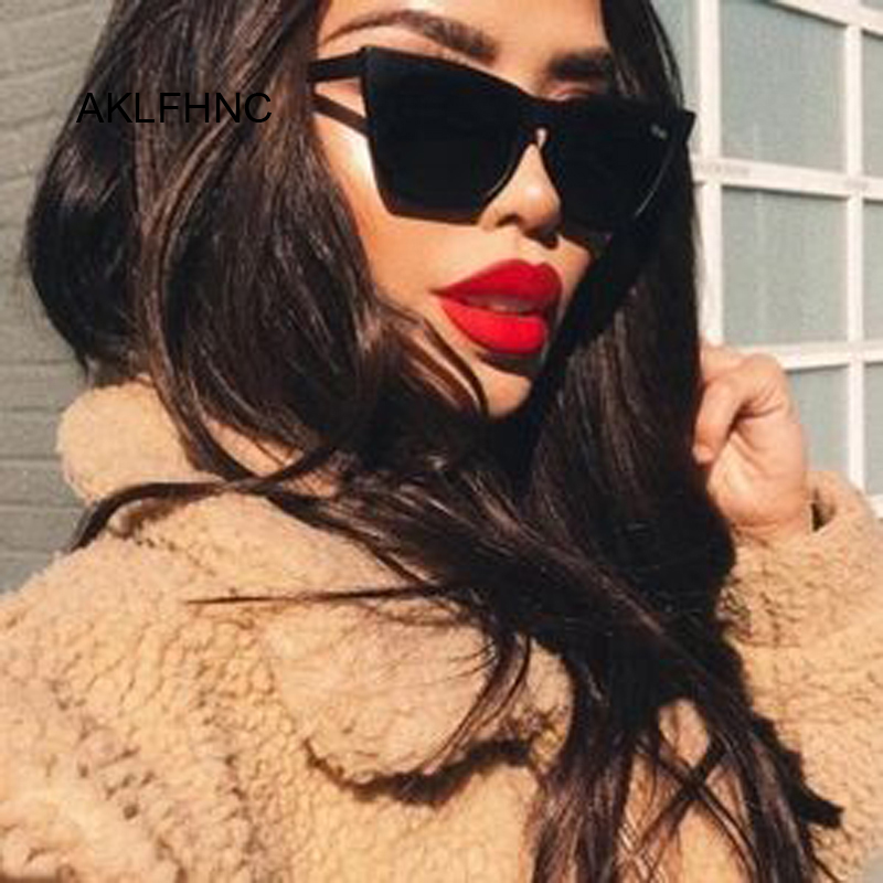 Female Vintage Sunglasses Women Fashion Cat Eye Luxury Sun Glasses Classic Shopping Lady Black Oculos De Sol UV400