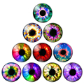 In Pairs Dragon Eyes Cat Eye Doll Toys Eyes Hot Sale8/10/12/14/16/18/20mm Handmade Photo Glass Cabochons DIY Making Accessories