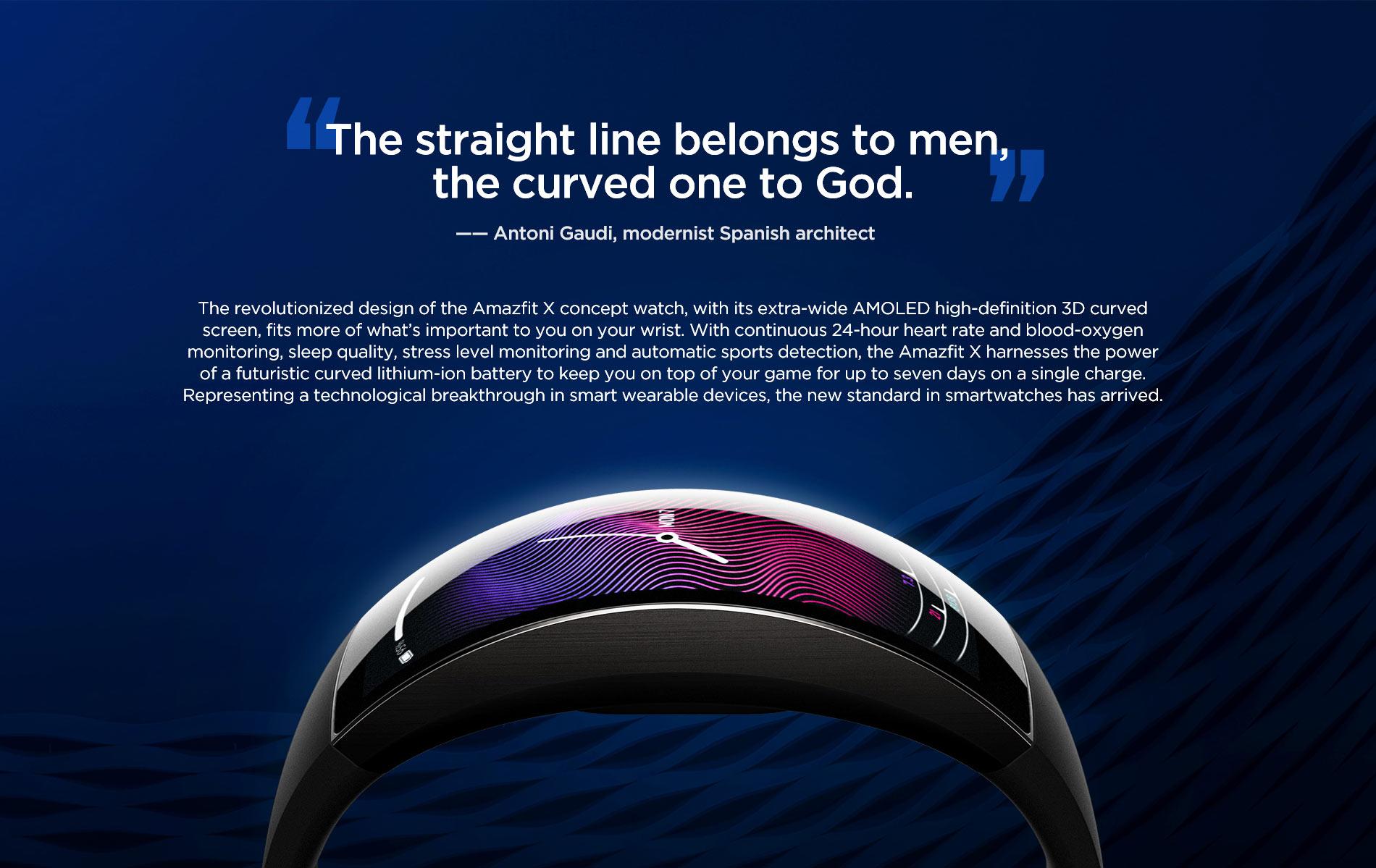 Amazfit X Curved Smartwatch 10