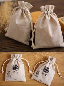 Packaging-Bag Sack-Jewelry Drawstring-Pouch Linen Jute Gift Party 10x15cm 9x12cm Candy