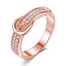 Креативные кольца из розового золота/белого пояса для женщин