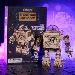 Image 2 - Robotime 5 sortes ventilateur rotatif en bois bricolage Steampunk modèle Kits de construction assemblage jouet cadeau pour enfants adulte AM601