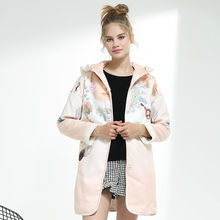 Printing Mid-length Cotton Winter Jacket Womens Faux Double-sided Polyester Wool Winter Coat Women Parka Casaco Feminino Zjt63(China)
