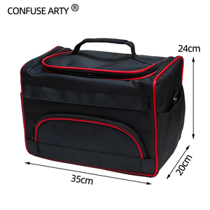 Image 4 - Professional Scissor Bag Salon Hairdressing Tool Multi function Storage Bags Hair Scissors Tool Makeup Case with Strip