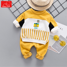 baby kids autumn spring tracksuit children sweatshirt + pants sports clothes set sportswear baby boys girls clothes suit стоимость