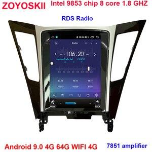 ZOYOSKII Android 10 10,4 дюймов вертикальный Tesla экран автомобильный gps Мультимедиа Радио bt навигационный плеер для Hyundai sonata 8 2010-2015