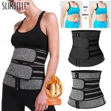 Cintura espartilho trainer sauna suor esporte cintas modeladora mulheres shaper lombar workout trimmer shapewear cinto de emagrecimento