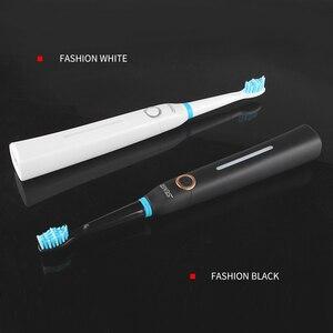 Image 5 - SEAGO סוניק חשמלי מברשת שיניים למבוגרים טיימר מברשת USB נטענת חשמלי שן מברשות עם 3pc החלפת מברשת ראש SG958