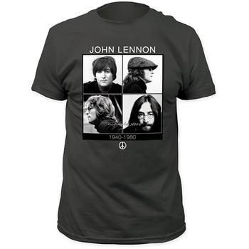 John Lennon 1940-1980 Fitted Jersey T-shirt Top Tee  Humor Men Crewneck Tee Shirts T Shirt Short Sleeve Tops 1