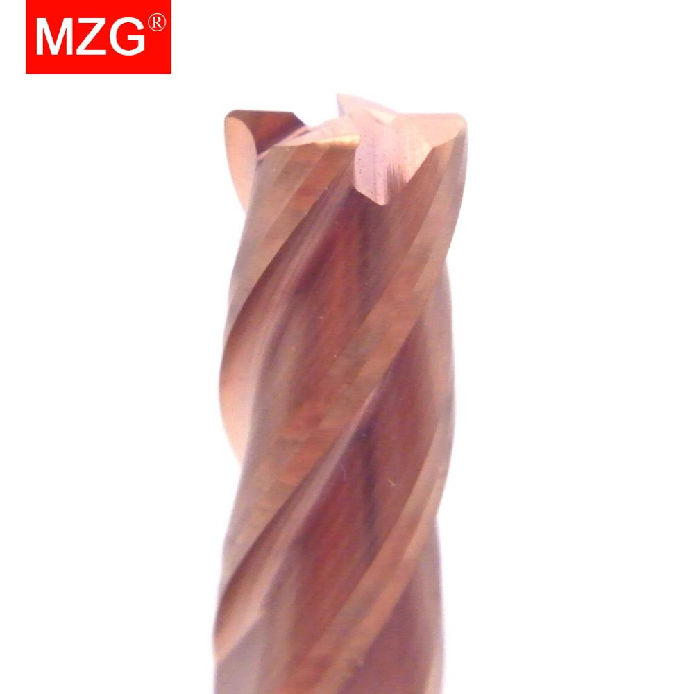 MZG 4 Flute HRC60 4mm CNC Cutting Tungsten Steel Milling Cutter End Mill