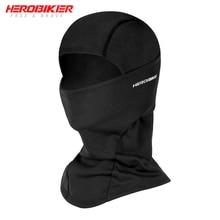 HEROBIKER Балаклава мотоциклетная маска для лица из флиса в байкерском стиле Термальность для лица с защитой от ветра для мальчиков и девочек штормовки-осень-зима мотоциклетная маска