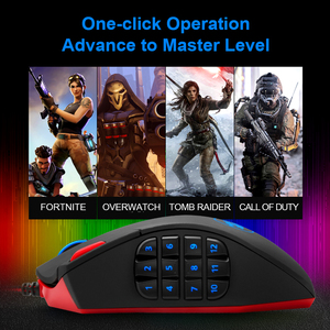 Image 2 - Redragon Perdition M901 USB wired Gaming Mouse 24000DPI 19 buttons programmable game mice backlight ergonomic laptop PC computer