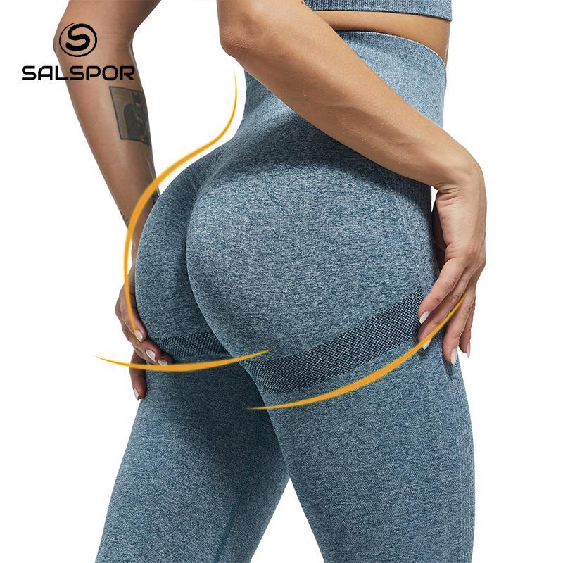 SALSPOR Women High Waist Leggings For Fitness Ladies Sexy Bubble Butt Gym Sports Workout Leggings Push Up Fitness Female Leggins 3