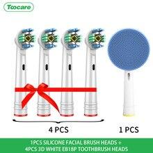 Têtes de brosse à dents électrique de rechange oral-b, nettoyage de précision, 3D, blanc, soie, action croisée, têtes sensibles