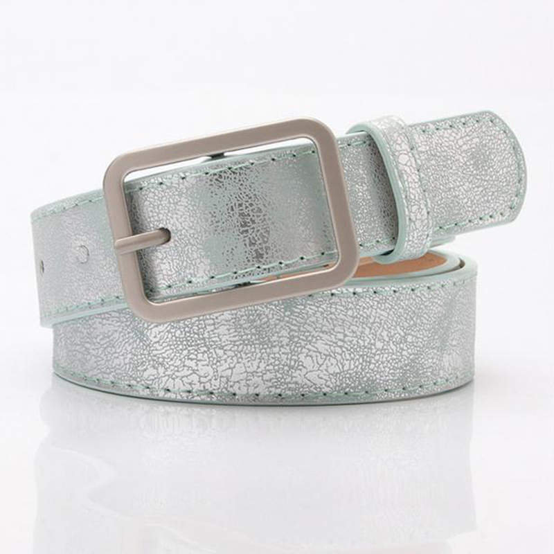 YELITE Women's Alloy Pin Buckle Shiny PU Leather Belt Fashion Shiny Waist Chain Crystal Diamond Full Rhinestone Luxury Wide Belt