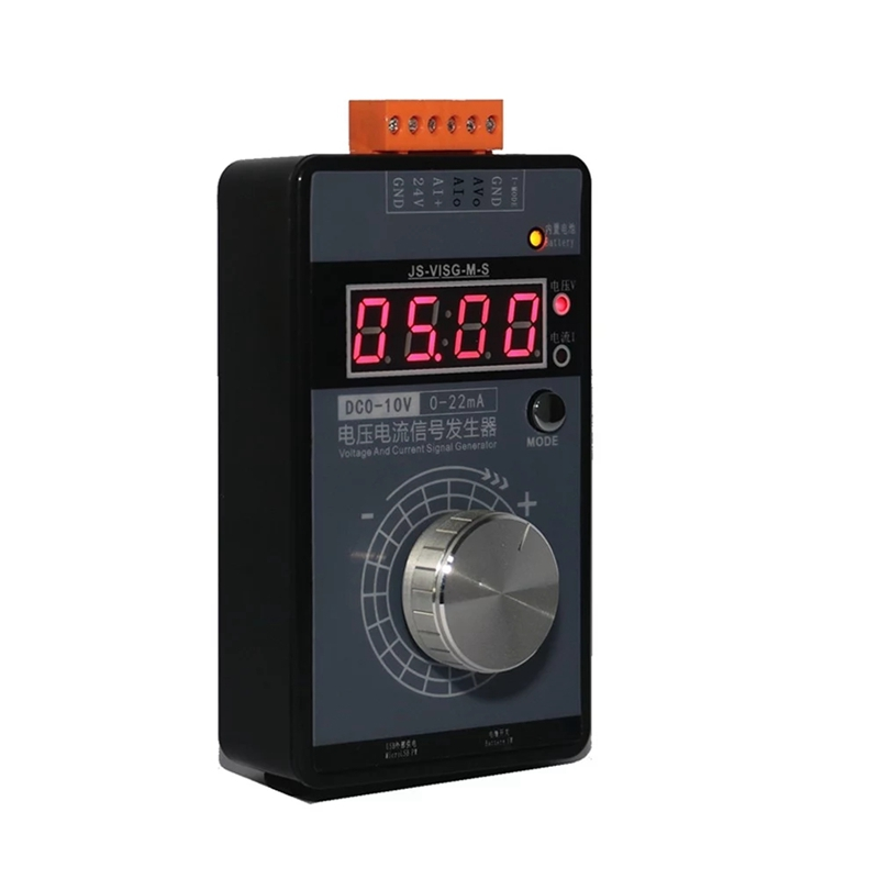HOT-Portable High Accuracy 0-5V 0-10V 4-20MA Signal Generator Pocket Adjustable Voltage Current Simulator Calibrator