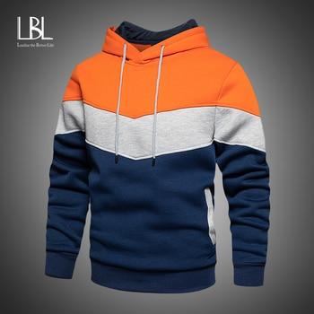 Mens Fleece Hoodies 2020 Autumn Winter Streetwear Hooded Sweatshirt Fashion Hoodie Casual hip hop Sweatshirt New Men Tracksuit 1