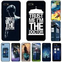 цена Tardis Box Doctor Who TARDIS Cover Black Soft Shell Phone Case For Huawei Honor 7C 7A 8X 8A 9 10 10i Lite 20 NOVA 3i 3e онлайн в 2017 году