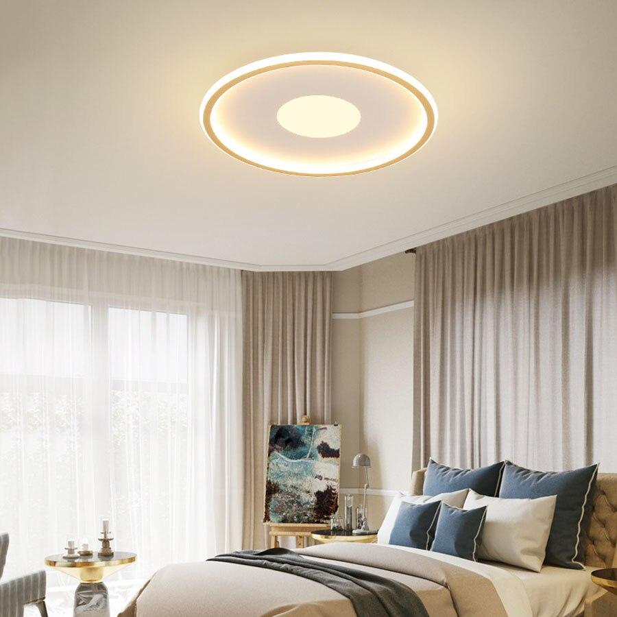 quarto luz teto montagem em superfície redonda iluminação interior