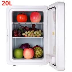 Draagbare 20L Koelkast Tweeërlei Gebruik Thuis Auto Koelkast Mini Koelkasten 12V 56W Ultra Quiet Cooling Verwarming Doos koelkast voor Reizen