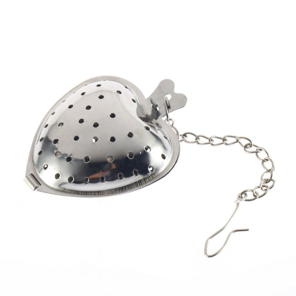 New Arrival 1Pc Stainless Steel Silver Heart Tea Spice Strainer Ball Infuser Filter Herb Steeper High Quality Tea Infuser