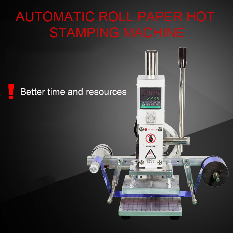 Manual hot stamping machine automatic roll paper leather PU wood carton packaging mobile phone case hot stamping machine|Machine Centre| |  - title=