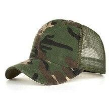 Summer Hat Baseball-Cap Snapback Trucker Camouflage-Bone Mesh Hip-Hop Dad Gorra Masculino