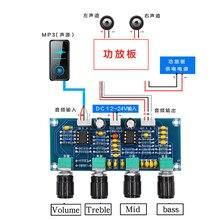 HIFIDIY – amplificateur Audio domestique en direct NE5532, réglage de la tonalité de la scène avant, 2.0 canaux de son, aigus, mid BASS, réglable pour haut-parleur A901