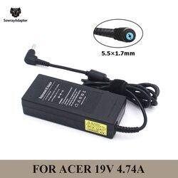 19v 4.74a 90w 5.5x1.7mm portátil ac adaptador carregador para acer aspire 5750g 5755g 7110 9300 notebook fonte de alimentação