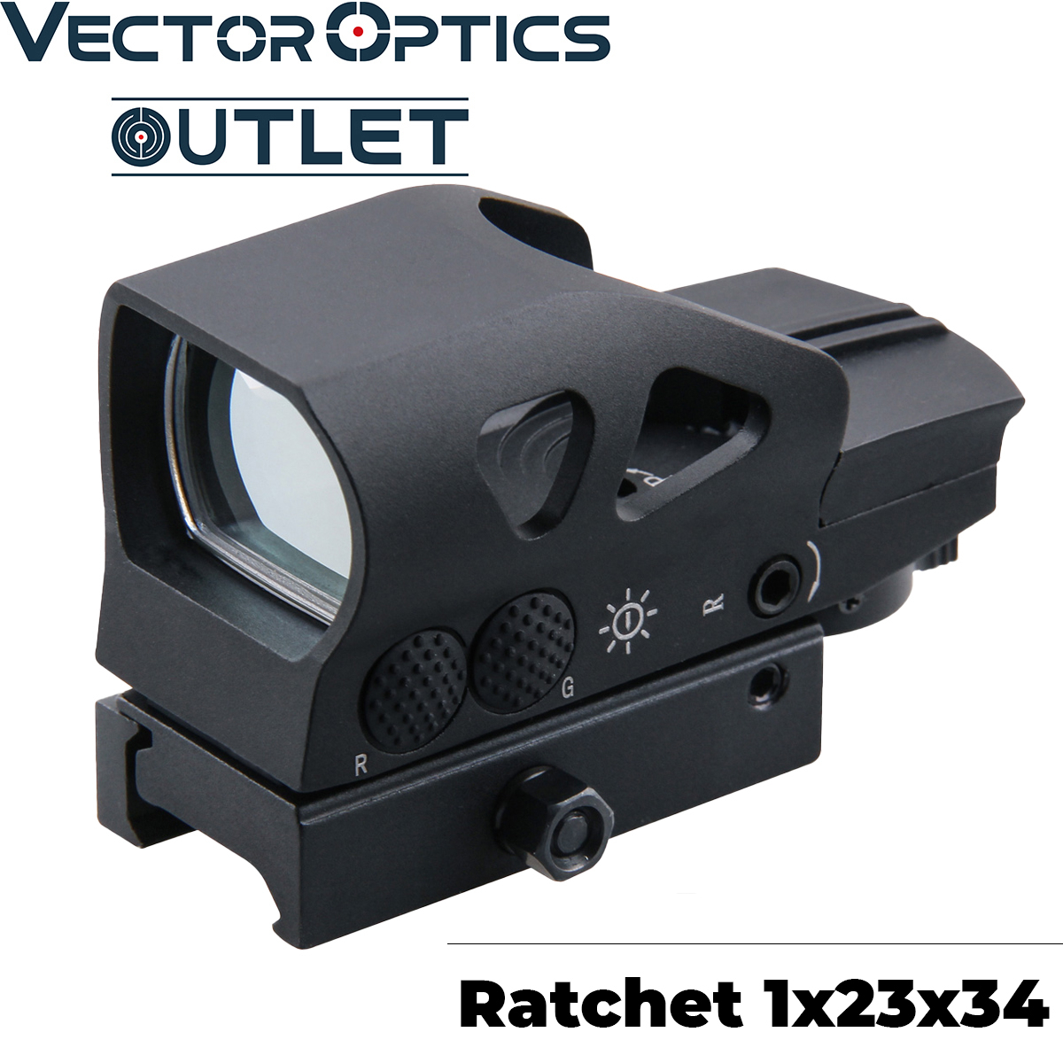Vector Optics Ratchet 1x23x34 Multi 4 Reticle Red Dot Scope 