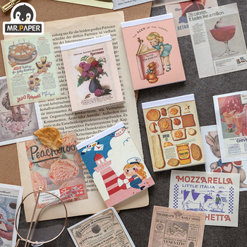 Mr.paper 80pcs Reactionist Mini Kraft Paper Scrapbooking/Card Making/Journaling Project DIY Diary Vintage Decoration LOMO Cards
