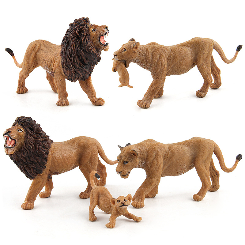 Simulation-Toy Model Gift Plastic African-Lion Kids Children PVC for Hand-Painted Happy