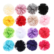 16 Colors Boutique Soft Chiffon Flowers Headwear DIY Crafting Handmade For Girl Kid Headband Accessory 5pcs/lot Cheap Wholesale