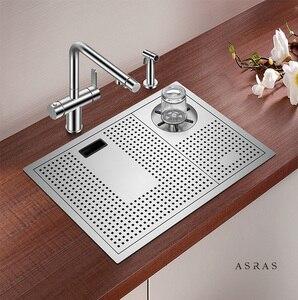 Asras 5338X + 3063 SUS304 ручная работа кухонная раковина чашка ополаскиватель для воды разбрызгиватель кухонного крана DHL Бесплатная доставка