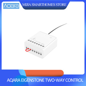 Image 1 - Xiaomi Mijia Aqara Eigenstone Zwei weg control modul Drahtlose Relais Controller 2 kanäle Arbeit Für Mijia Home Kit