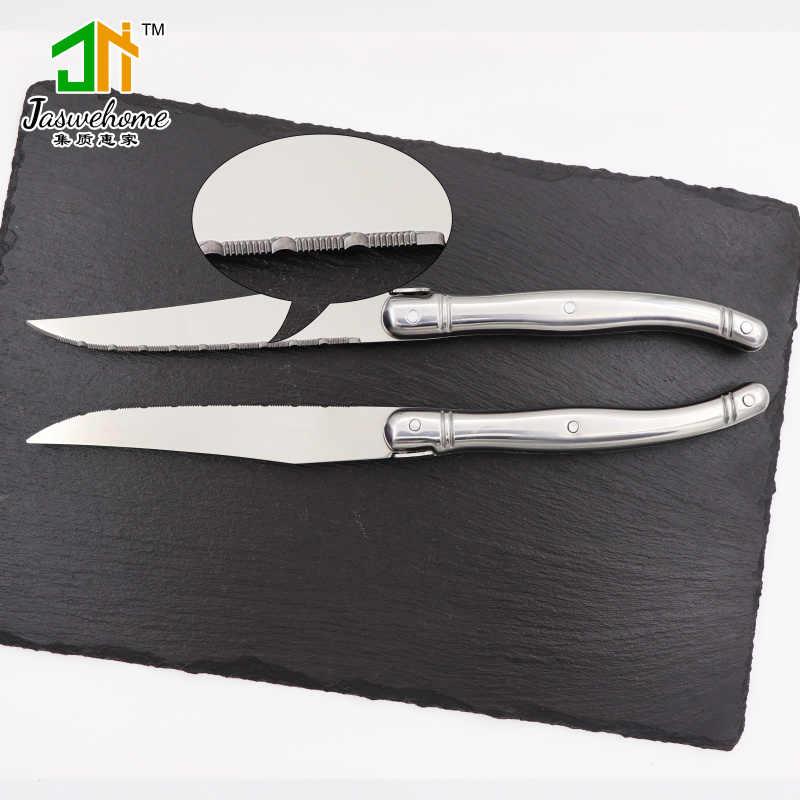 Lot de 6 couteau à Steak inox dîner couteau ensemble Laguiole couteau inox vaisselle couverts dîner couteaux