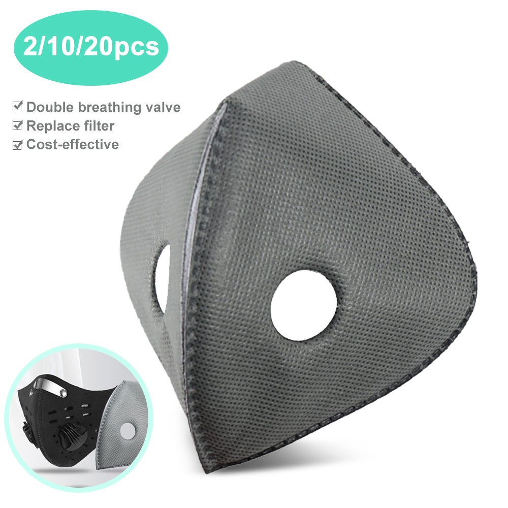 Replaceable Face Masks Filter Pads Anti-Dust Replacement With Cold Protection Anti-fog Virus Mask Windproof Mask
