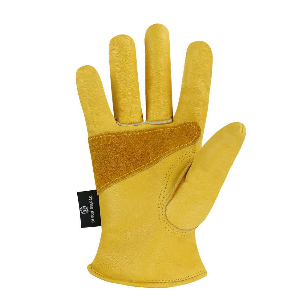 Winter Work Gloves Cowhide Leather Thermal Motorcycle Glove Cold Weather Cotton Lining freezer Working Glove in Safety Gloves from Security Protection