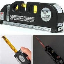 Nível de nivelamento de lasers 3 linhas nivel laser professional horizonte vertical 5.5m régua multiuso medida nível-03 régua ferramentas