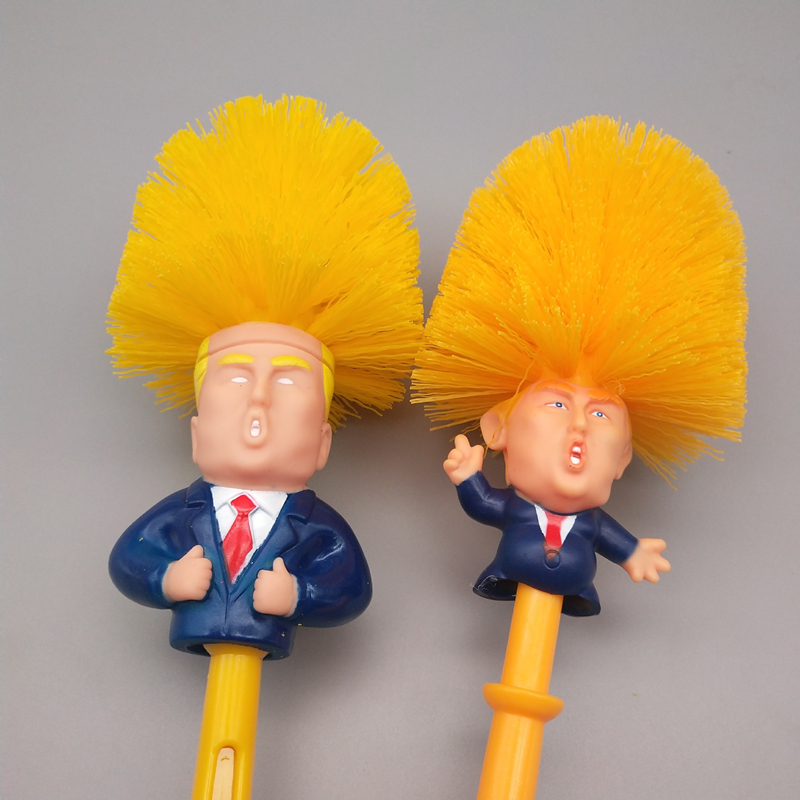 Creative Donald Trump Brush Toilet Supplies Set Brush Holders Wc Original Toilet Paper Bathroom Cleaning Accessories personality