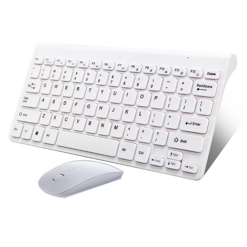 Simple Ultra-Slim Black Mini Wireless Keyboard And Mouse Combo Kit For PC Desktop Loptop Classic Office Set