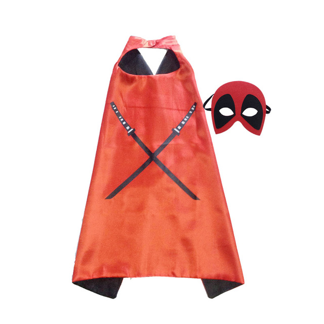 Superhero Capes with Masks for Kids Birthday Party Supplies Party Favor Halloween Costumes Dress Up Girls Boys Cosplay 3