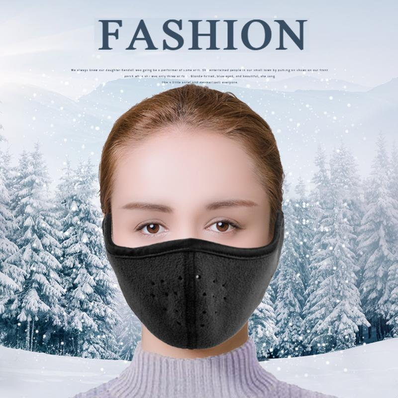 Men Women Binaural Sports Cycling Earmuffs Ski Fall Winter Warm Mask Half Face