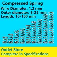 Telescopic spring Compressed Spring Spot Goods Return Spring Line Diameter 1.2mm, External diameter 6-22mm