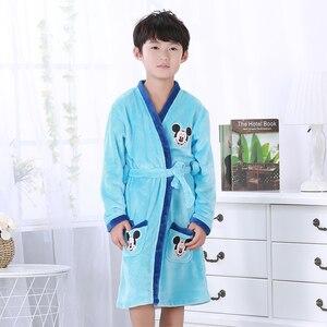 Kids Pajamas Robes Cartoon Child Robes Flannel Lovely Animal Bathrobe Child Clothes Bath Robes Baby Boys Girls Clothing 2-14yrs