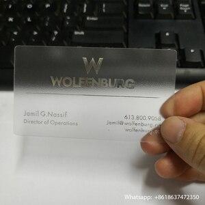 Image 4 - 90x51mm 200pcs Melhor qualidade Fosco Matt cartão em branco PVC cartão de visita transparente de plástico transparente cartões de visita CMYK impressão