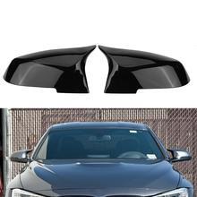 yuji hong top layer genuine cow leather car steering wheel covers case for bmw 320i m135i 2013 320d 335i 328i f20 f30 Glossy Black Mirror Cover For BMW F20 F21 M2 F23 F30 F36 X1 E84 F87 320i 328i 330i 335i M4 -Style
