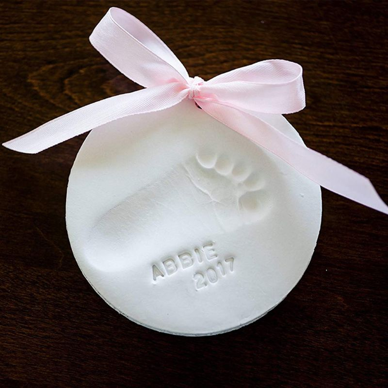 Baby Footprint Kit & Handprint Ornament Unique Baby Shower Gifts Nursery Decor U50F