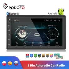 Podofo autorradio con reproductor Multimedia y GPS para coche, Radio Universal con navegador, Android, 2 Din, 7 pulgadas, 2 din, MP5, WIFI, Bluetooth